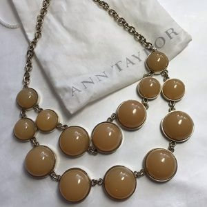 Chunky Ann Taylor Signed Necklace & Bag